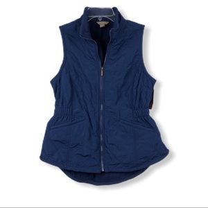 Bit & Bridle Quilted Blue Riding Vest NWT